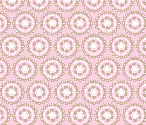 baby girl blooms 2 fabric by juneblossom on Spoonflower - custom fabric