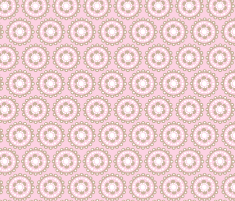 baby girl blooms 3 fabric by juneblossom on Spoonflower - custom fabric