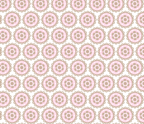 baby girl blooms 4 fabric by juneblossom on Spoonflower - custom fabric