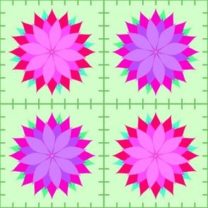 Flowers-Quilt-Squares