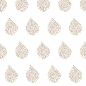 Leaf Outline Sepia