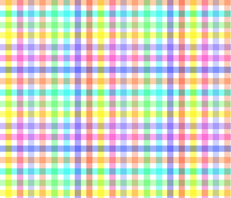 RAINBOW GINGHAM fabric by bluevelvet on Spoonflower - custom fabric