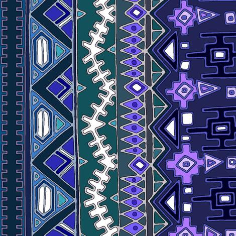 kilim castellations fabric by scrummy on Spoonflower - custom fabric