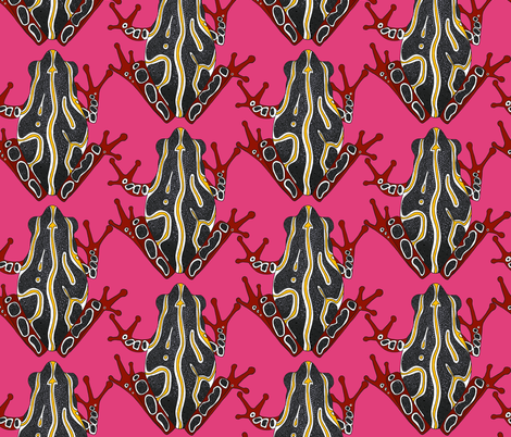 congo tree frog pink (large scale) fabric by scrummy on Spoonflower - custom fabric