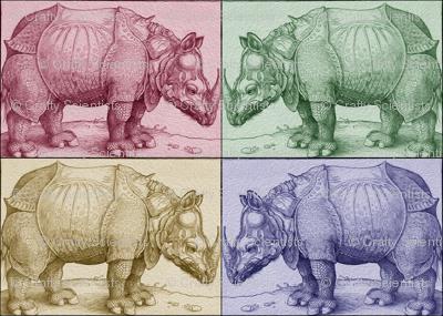 Vintage Rhino Squares