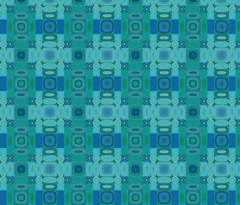 Bluegreen Oval Mosaic © Gingezel™ 2013