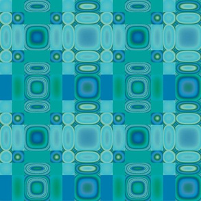 Bluegreen Oval Mosaic © Gingezel™ 2013