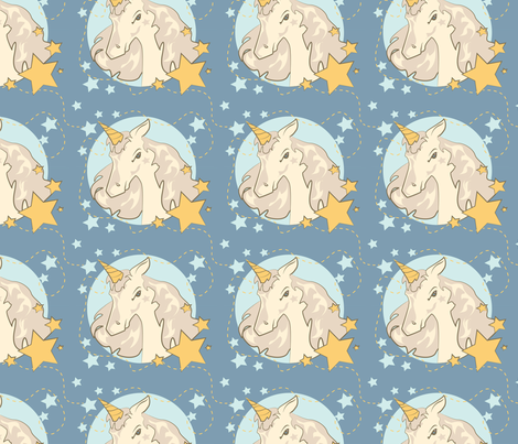 Unicorn fabric by doddlebee on Spoonflower - custom fabric