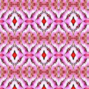 misty pink triangle flower stripes