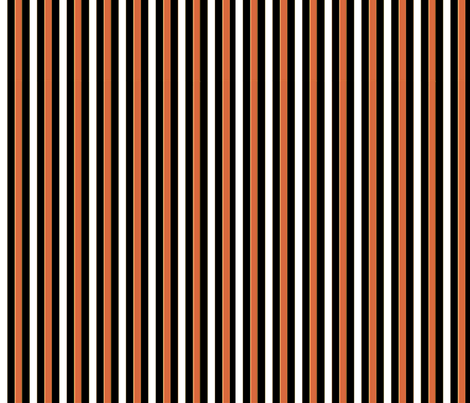 orange,black and white, stripes