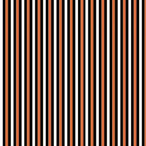 orange,black and white, stripes