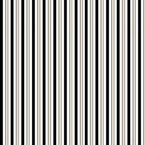 black, white and beige stripes