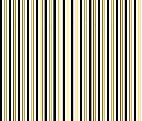 black,white,and yellow stripes