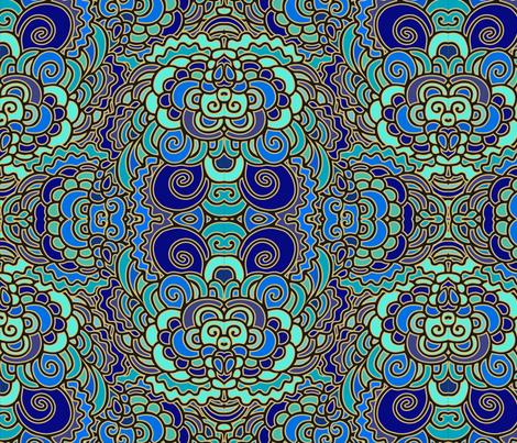 Wavy blue pattern fabric by dariara on Spoonflower - custom fabric