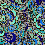 Wavy blue pattern