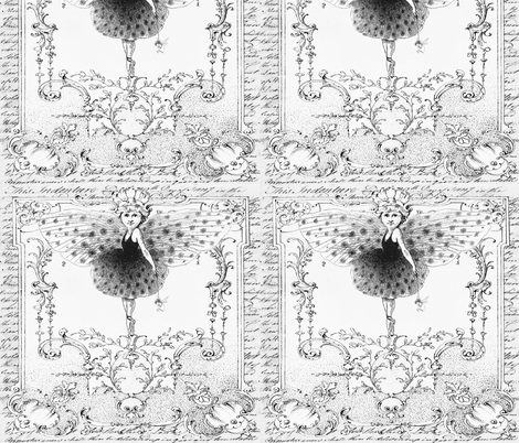 Ballet Girls fabric by peagreengirl on Spoonflower - custom fabric