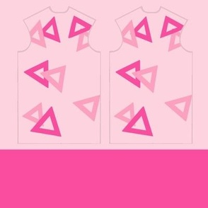 Shana Triangles Fashion: Front and Trim Binding