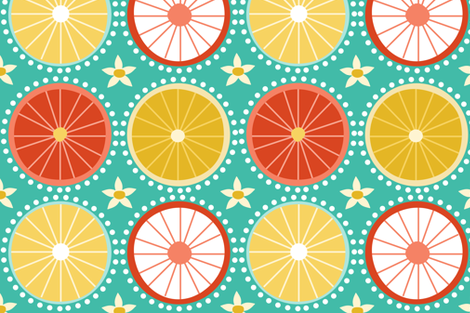 Citrus fabric by natitys on Spoonflower - custom fabric