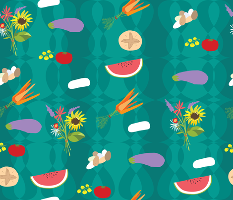 FarmersMarket300dpi fabric by ferntreestudio on Spoonflower - custom fabric