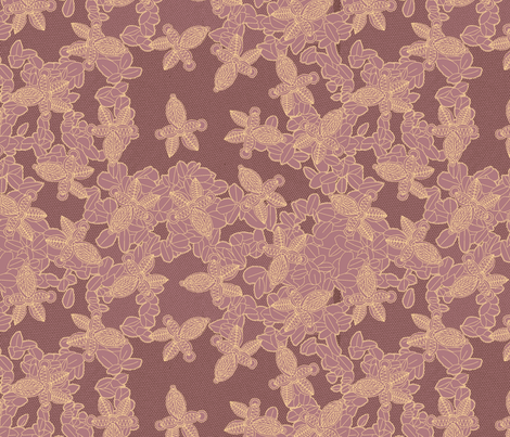 African Lace in Orchid fabric by bloomingwyldeiris on Spoonflower - custom fabric