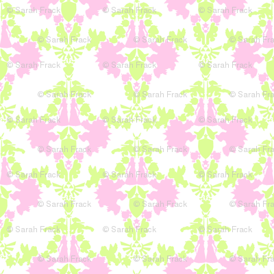 Super Mario & Legend of Zelda Damask - Pink Limeaid