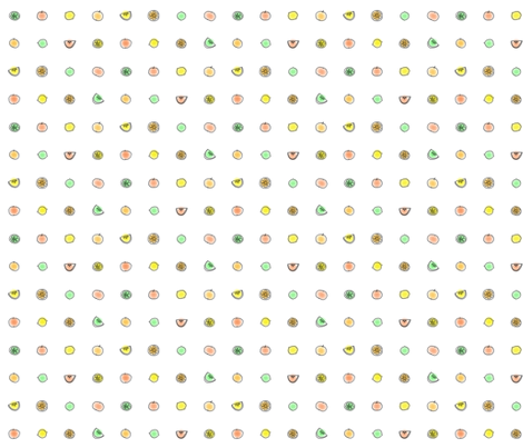 Citrus Dots fabric by aussienisi on Spoonflower - custom fabric