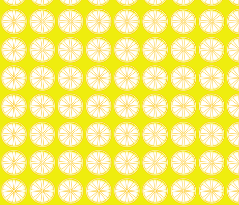 Lemon fabric by aussienisi on Spoonflower - custom fabric