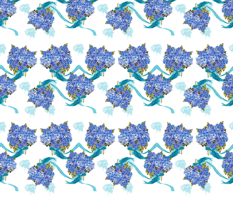 Throw the Bouquet fabric by karenharveycox on Spoonflower - custom fabric