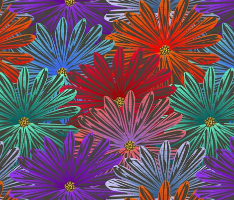 big flowers fabric by glimmericks on Spoonflower - custom fabric