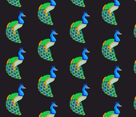 peacocks a plenty fabric by mezzime on Spoonflower - custom fabric