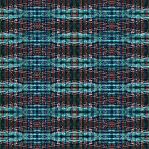 blue and red plaid  bandana