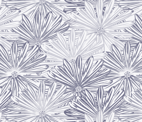 big flowers wedgewood fabric by glimmericks on Spoonflower - custom fabric