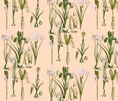Spring Flowers - Food for the Spirit fabric by walkwithmagistudio on Spoonflower - custom fabric