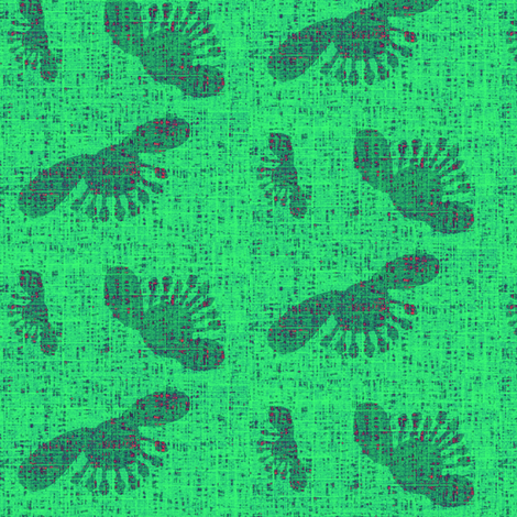 flower_pods - green fabric by materialsgirl on Spoonflower - custom fabric