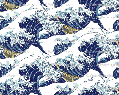 the tiny waves of Hokusai