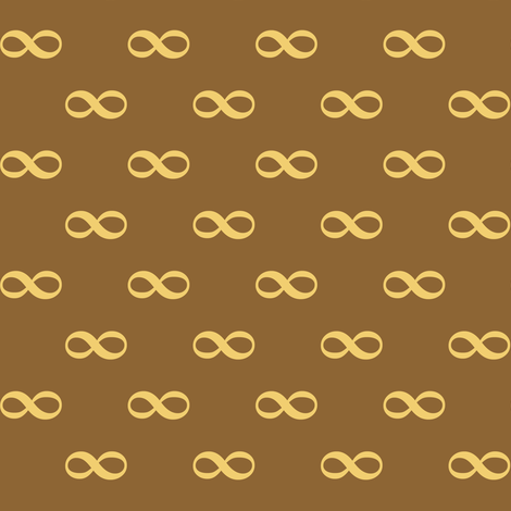 infinity as bowtie - wheat fabric by weavingmajor on Spoonflower - custom fabric