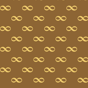 infinity as bowtie - wheat