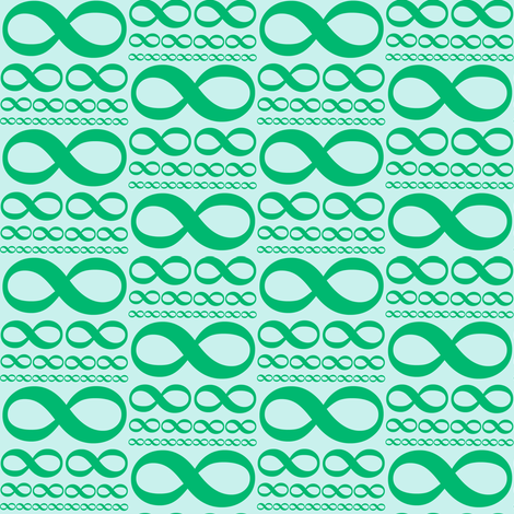 infinitiki in cool mint fabric by weavingmajor on Spoonflower - custom fabric