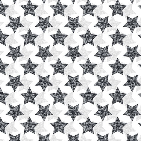 The Binary Shuffle - navy  and gray synergy0012 fabric by glimmericks on Spoonflower - custom fabric