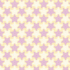 Mirrorculous Stars lavender and cream                                                                                                                                    synergy0012
