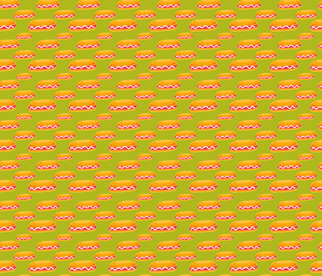 hot dog pattern fabric by kostolom3000 on Spoonflower - custom fabric
