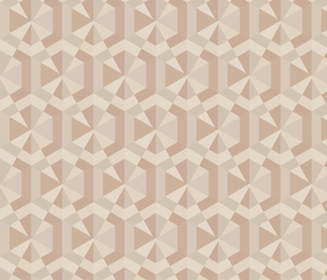 Beige Triangles and Hexagons Geometric © Gingezel™ fabric by gingezel on Spoonflower - custom fabric