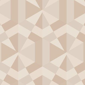 Beige Triangles and Hexagons Geometric © Gingezel™