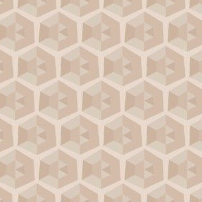 Beige Faceted Honeycomb © Gingezel™  2013