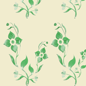 painted green flowers