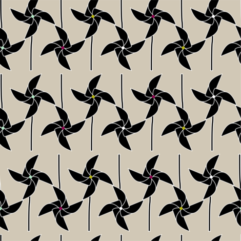 Windmills fabric by candyjoyce on Spoonflower - custom fabric