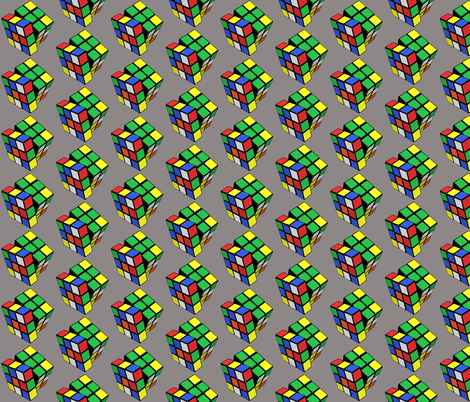 Rubik_s_cubegrey fabric by craftyscientists on Spoonflower - custom fabric