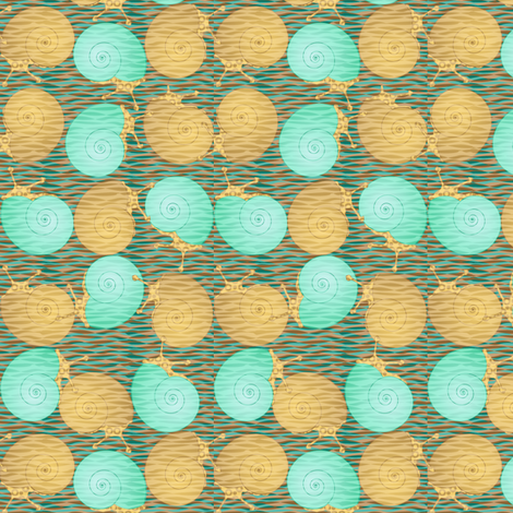 serene snails snooze synergy0004 fabric by glimmericks on Spoonflower - custom fabric