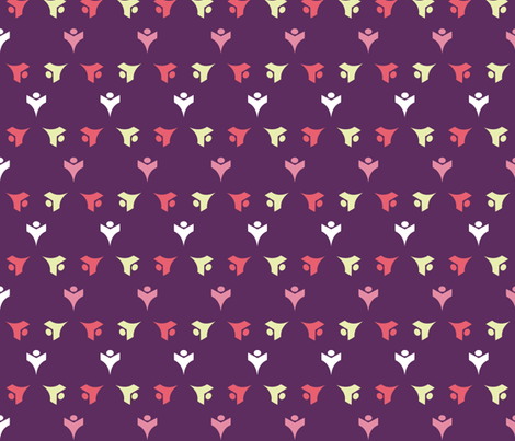 TULIP_BUDS_GRAPE fabric by katyclemmans on Spoonflower - custom fabric
