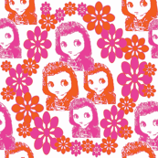 She's a Real Doll Pink/Orange Floral